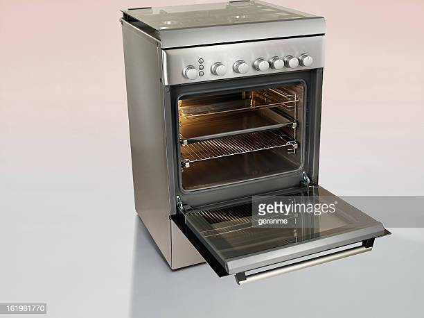 inox stove - oven stock pictures, royalty-free photos & images