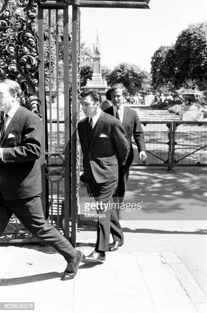Inquest into death of Frances Shea wife of Reginald Kray St Pancreas Coroners Court London 13th June 1967 Pictured Reginald Kray
