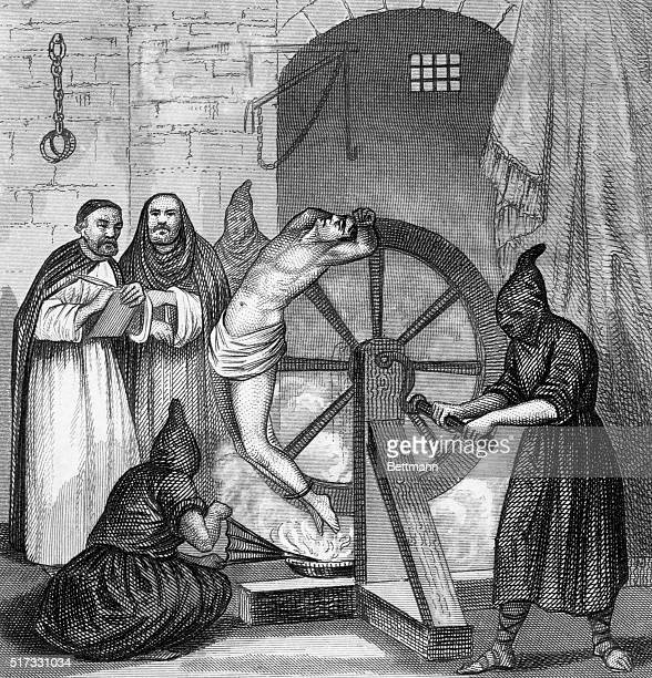 Fire torture on the wheel Undated engraving BPA2# 2598