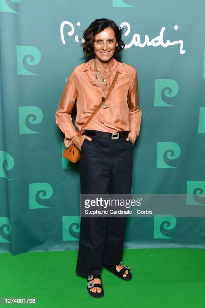 Inès de La Fressange attends the House Of Cardin Special Screening At Theatre Du Chatelet on September 21 2020 in Paris France