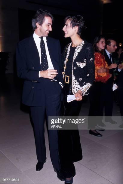 Inès de La Fressange et son mari Luigi d'Urso lors d'une soirée le 20 septembre 1989 à Paris France