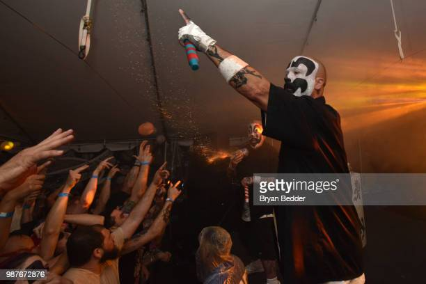 Insane Clown Posse performs at the Rooftop Films NY Premiere of Family at The Well on June 29 2018 in Brooklyn New York