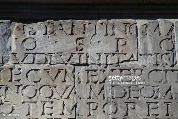 Inscription Arch of Constantine 315 AD Rome Italy Roman civilisation 4th century AD
