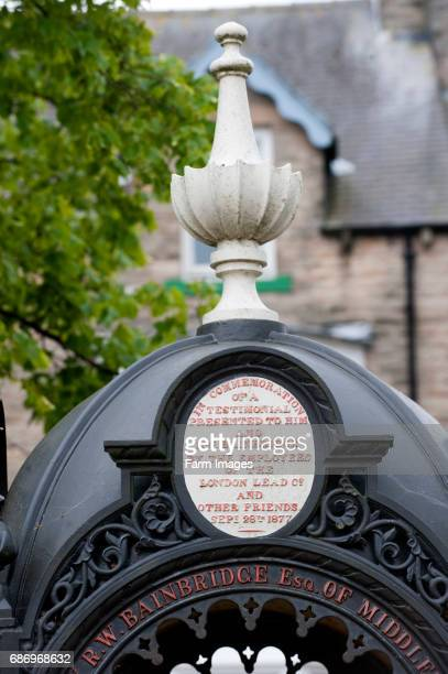 Inscription on water fountain in the market place of Middleton in Teesdale Co Durham