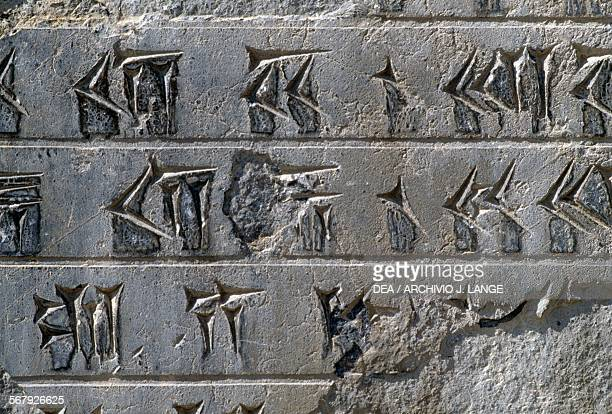 Inscription, Persepolis , Iran. Achaemenid civilisation, 6th-5th century BC.