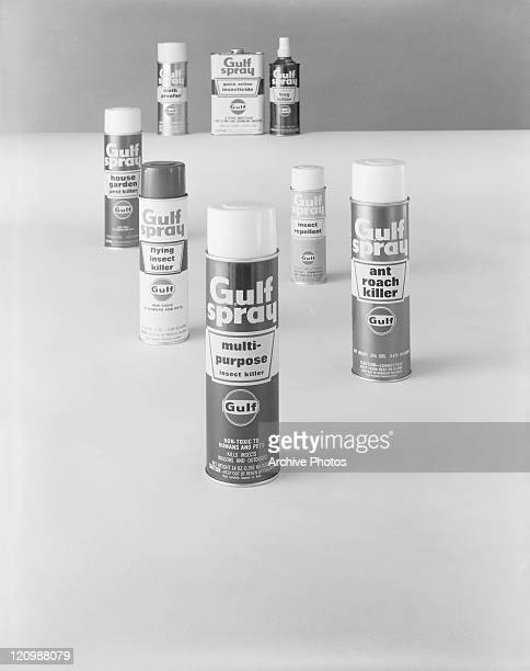 Insect killer and repellent against white background, close-up