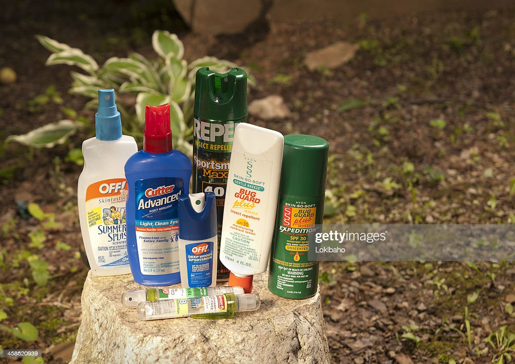 Insect Repellent Lotions and Bug Sprays : Stock Photo