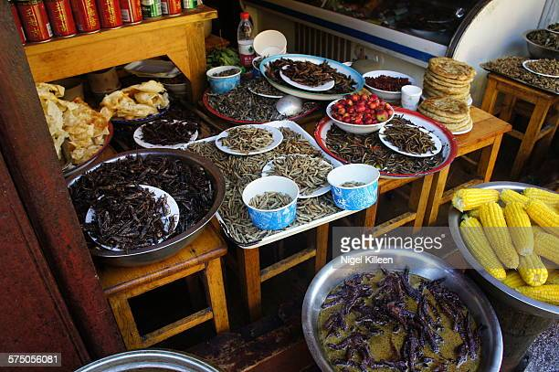 Insects for sale, Lijiang