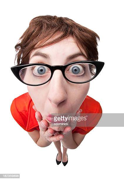 insecure nerd - cat's eye glasses stock pictures, royalty-free photos & images