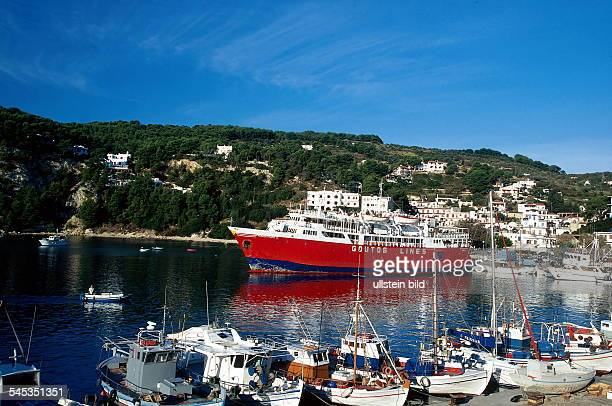 Insel Alonissos Hafen von Patitiri 1998