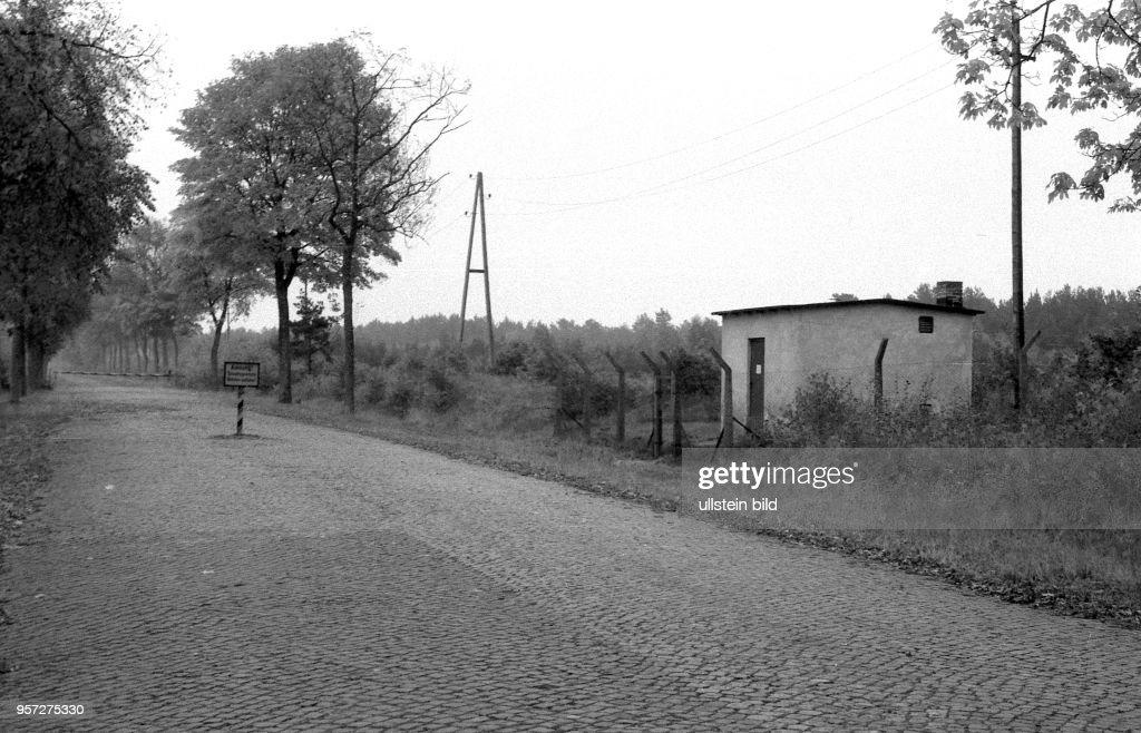 Ddr 1960 Insel Usedom Ostsee Grenze Nach Polen Mit Schild