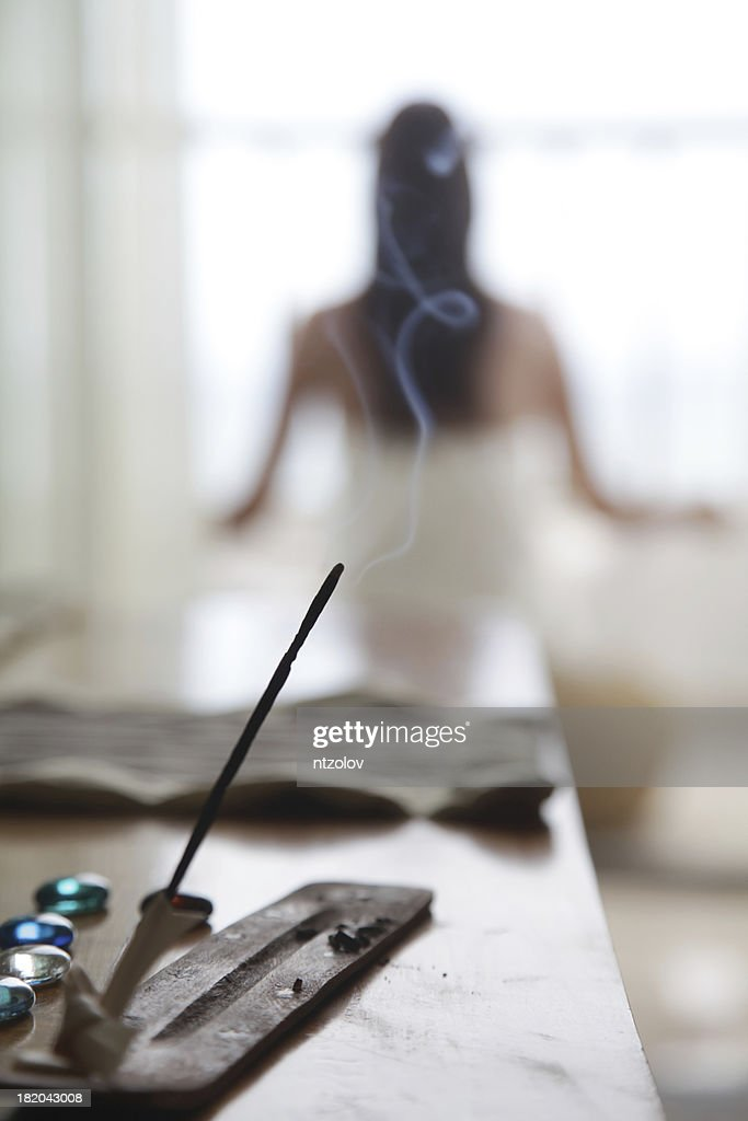 Insense and Yoga : Stock Photo