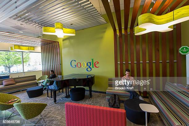 Inside a building at the Googleplex the corporate headquarters complex of Google Inc located in Mountain View California