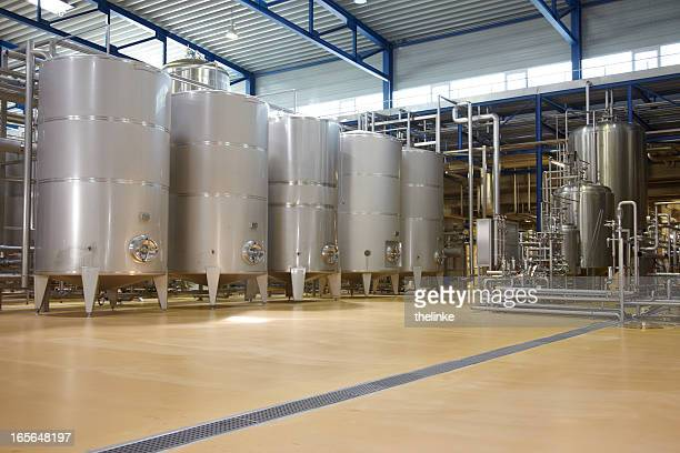 inside a german brewery - storage tank stock photos and pictures