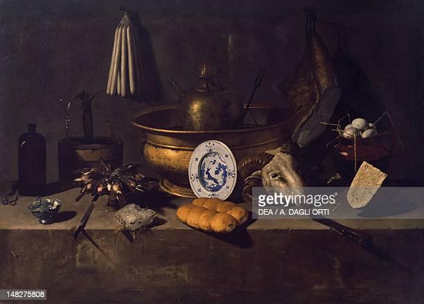 Inside a kitchen, by Giovanni Battista Recco . ; Naples, Museo Nazionale Di Capodimonte .