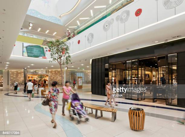 inside a large shopping mall in almaty - 中央アジア ストックフォトと画像