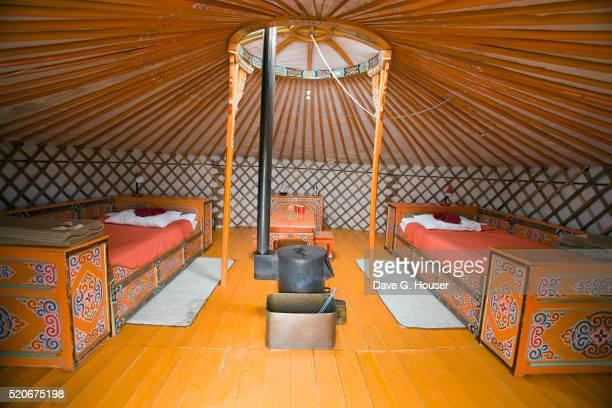 Inside a Mongolian Shelter