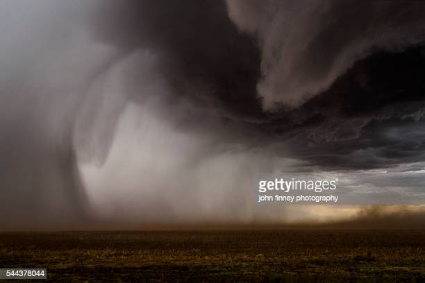 Inside a Thunderstorm. Forward Flank Downdraft from a super-cell. Texas, USA