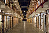 Inside Alcatraz Prison - Row of Bars and Cells