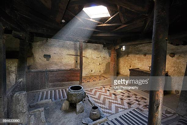 inside altit fort, hunza, gilgit baltistan, pakistan - ancient civilization stock pictures, royalty-free photos & images