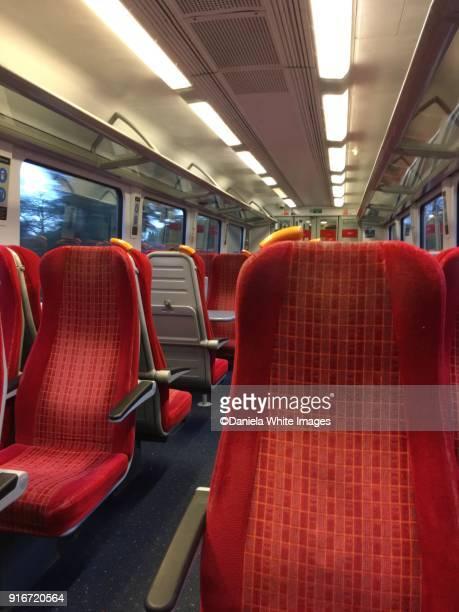 Inside an empty train
