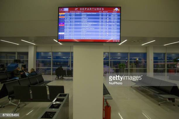 Inside Belgrade's Nikola Tesla Airport Terminal a government owned and operated airport Hub for Air Serbia and Wizz Air For 2016 the passenger...