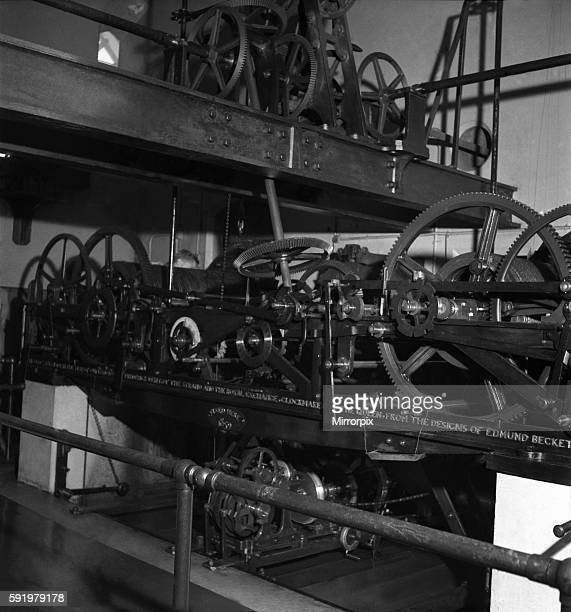 Inside Big Ben clock in London 1949. O19836 - 001