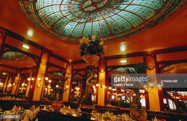 inside bofinger brasserie. - brasserie stock pictures, royalty-free photos & images