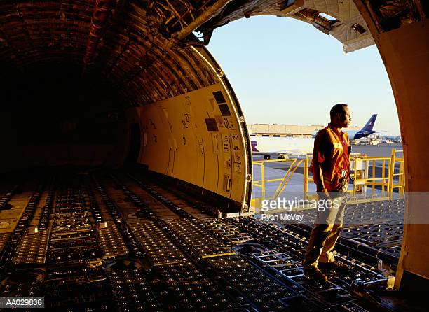 Inside Cargo Airplane