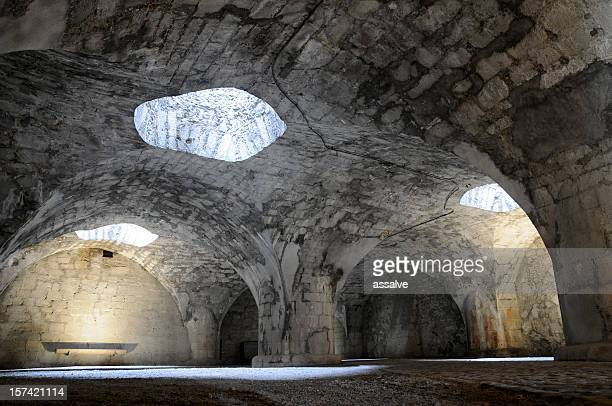 inside castle the munot in schaffhausen - dungeon stock photos and pictures