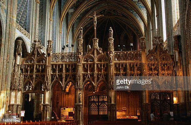 inside cathedral ste cecile. - アルビ ストックフォトと画像