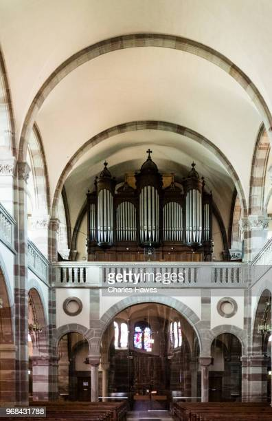 Inside church at Dambach la ville. Images taken in the Alsace Region of France between Chatenois and Andlau
