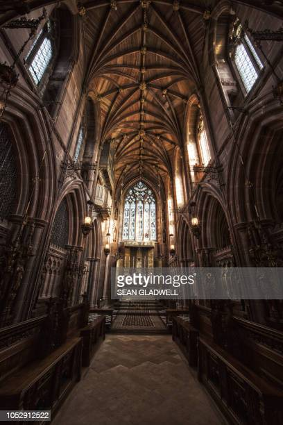 inside church of st mary the virgin - dirty easter stock pictures, royalty-free photos & images