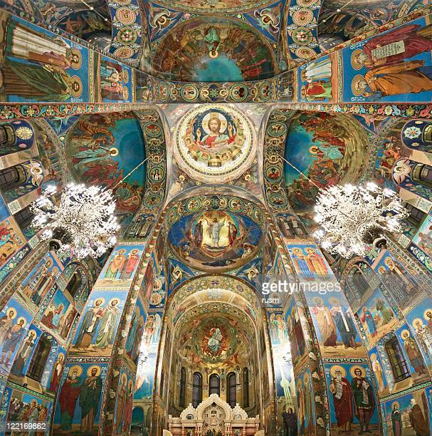 Inside Church on Spilled Blood, St. Petersburg, Russia