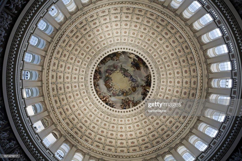 Congresso cúpula do Capitol Building, o Washington DC : Foto de stock
