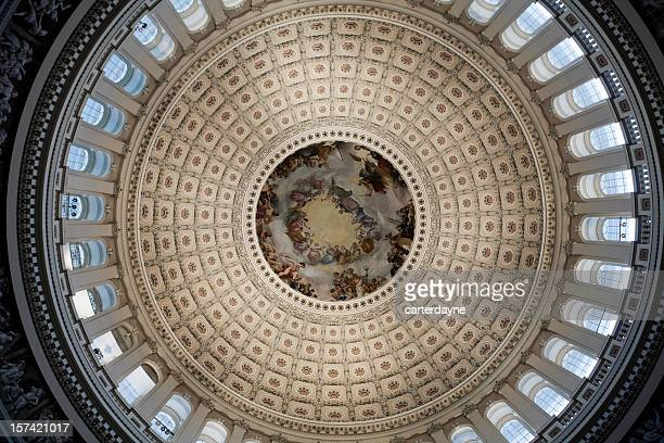 inside congress capitol building dome, washington dc - house of representatives stock pictures, royalty-free photos & images