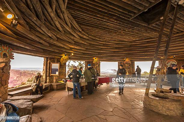 inside desert view watchtower - sells arizona stock pictures, royalty-free photos & images