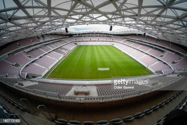Inside general view of the 'Allianz Riviera' a new multiuse stadium with a capacity of 35000 people on September 16 2013 in Nice France
