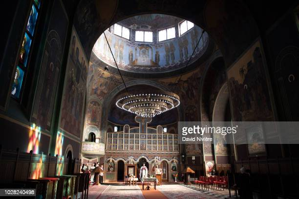 Inside general view of the Stabtul Illie Church on August 05 2018 in Sinaia Romania