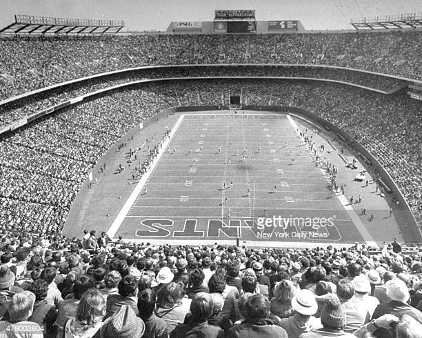 Inside Giants Stadium during game against the New York Giants and the Dallas Cowboys