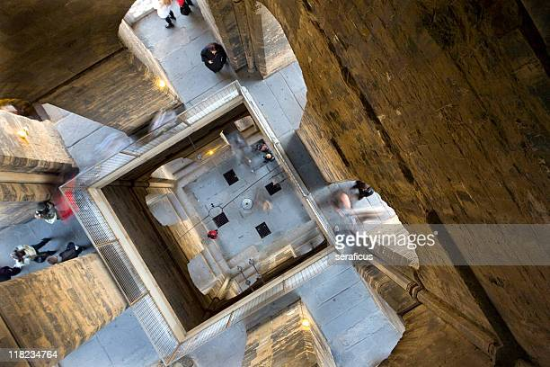 inside giotto's bell tower - bell tower tower stock pictures, royalty-free photos & images