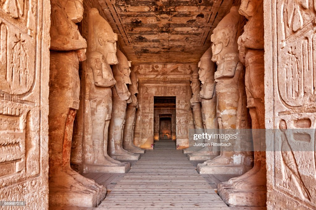 Inside Great Temple Of Ramses Ii In Abu Simbel Stock Photo