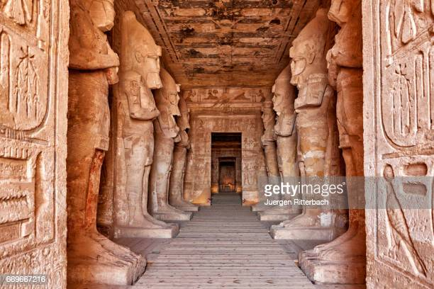 inside Great Temple of Ramses II  in Abu Simbel