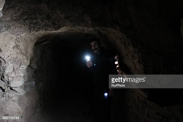Inside ISIL tunnel in Tel Laban/ Gazakan on 30 December 2016 The Kakai Kurds are returning to their homes as Mosul offensive continiues The Kakai...