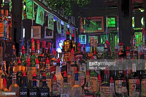 Inside Johnny Whtie's on Bourbon St ~ New Orleans LA - French Quarter bar February 19, 2013
