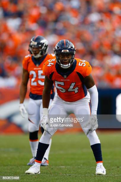 Inside linebacker Brandon Marshall of the Denver Broncos in action against the Dallas Cowboys at Sports Authority Field at Mile High on September 17...