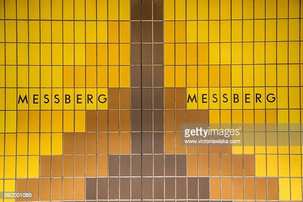 Inside 'Messberg' subway station, Hamburg, Germany
