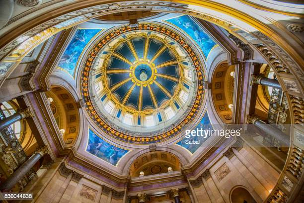 inside minnesota state capitol - st. paul minnesota stock pictures, royalty-free photos & images