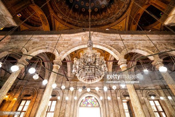 Inside Mosque of Muhammad Ali, Cairo, Egypt