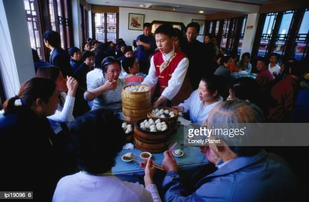 Inside Nanxiang steamed bun restaurant.